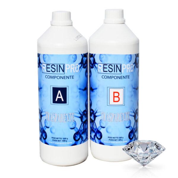 Resina epossidica trasparente Atossica 1.6 Kg