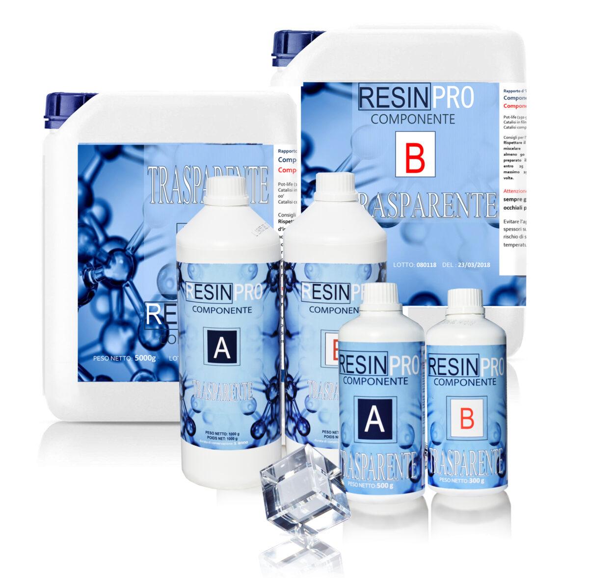 Resina epossidica trasparente Atossica 3,2 KG