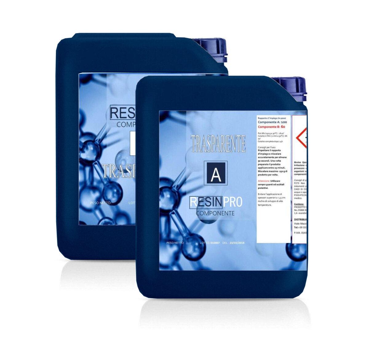 Resina Epossidica Trasparente Atossica KG 8