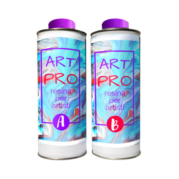 ART PRO Resina epossidica trasparente Atossica alta viscosità 1.66 KG