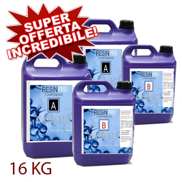 SUPER OFFERTA! Resina Epossidica Trasparente Atossica/ GR160 - KG 16