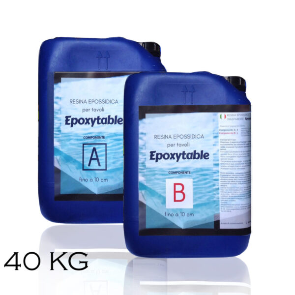 EPOXYTABLE RESINA EPOSSIDICA PER TAVOLI 25 KG