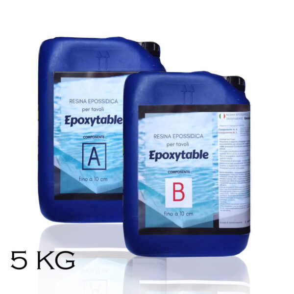 EPOXYTABLE RESINA EPOSSIDICA PER TAVOLI 5 KG