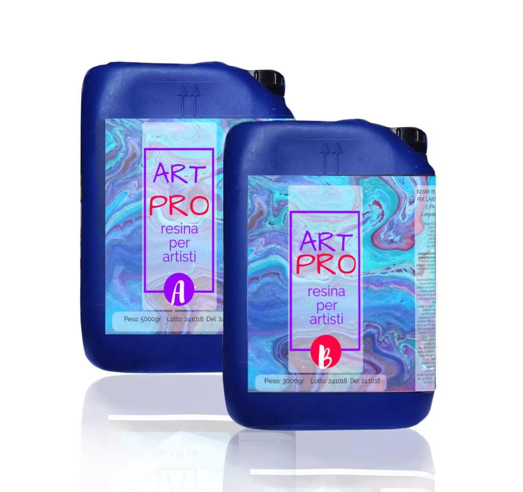 ART PRO Resina epossidica trasparente Atossica alta viscosità 8.3 KG