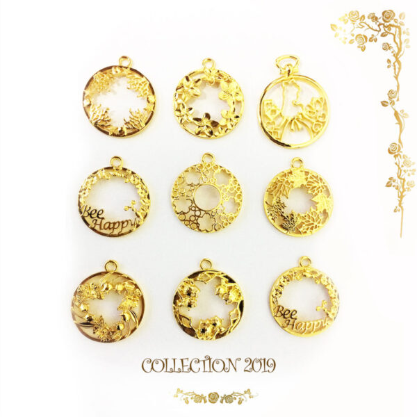 "NEW! Set 9 open bezel - Collection 2019 ""BE HAPPY"""