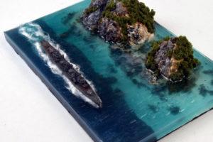 Vuoi un effetto acqua per il tuo diorama? La resina epossidica trasparente è il prodotto che fa per te