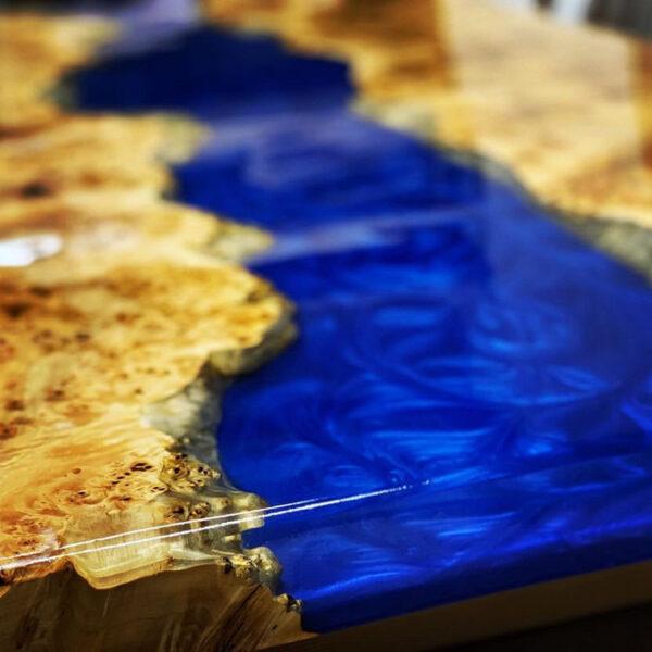 Kit EPOXYTABLE 5-FIVE per tavoli in legno e resina Atossica