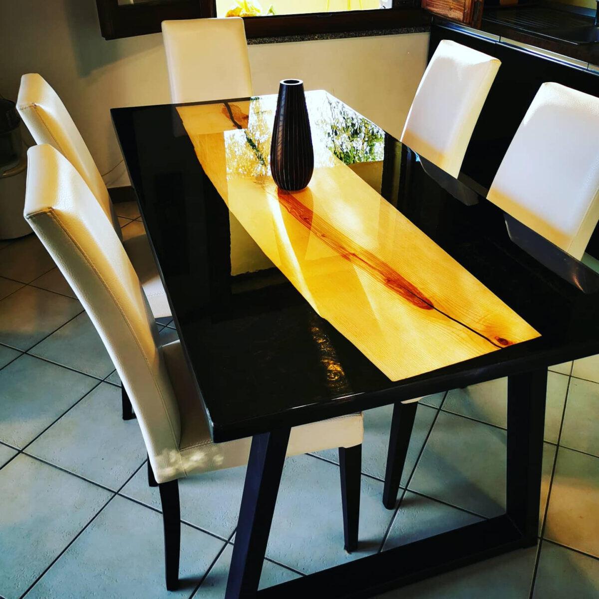 Kit EPOXYTABLE 5-FIVE BEGINNER per tavoli in legno e resina Atossica