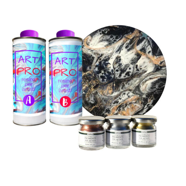 "KIT ""MICHELANGELO"" per pour paint e resin art"