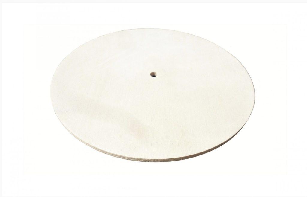 BASE PER OROLOGIO di forma rotonda in legno (D. 25 cm)
