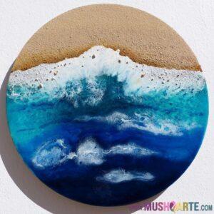 Come creare l'effetto onda del mare nei quadri in Resina Epossidica?