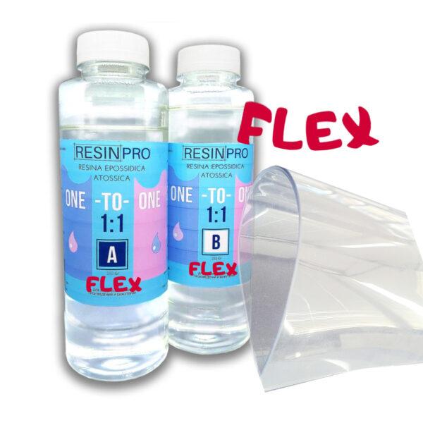 Resina Trasparente Atossica ONE-TO-ONE FLEX 1:1 GR 500
