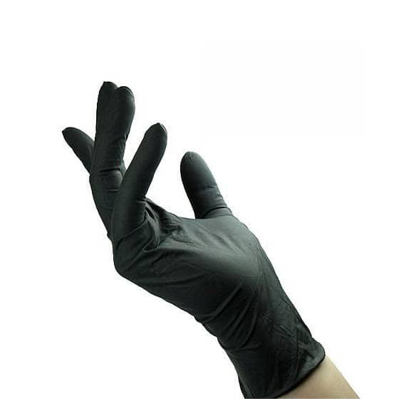 Guanti in nitrile monouso neri REFLEXX78 confezione 100 pz