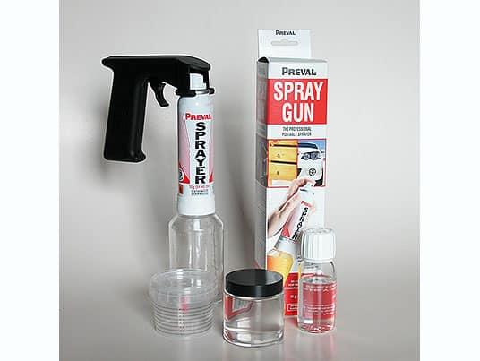 Kit Spray Gun con Impugnatura e Trasparente Lucido/Opaco in vasetto Bicomponente (Multiuso)
