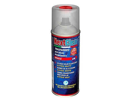 NextClear Trasparente Opaco - 2K Alto Solido in bomboletta spray Bicomponente (Monouso) da 400 ml