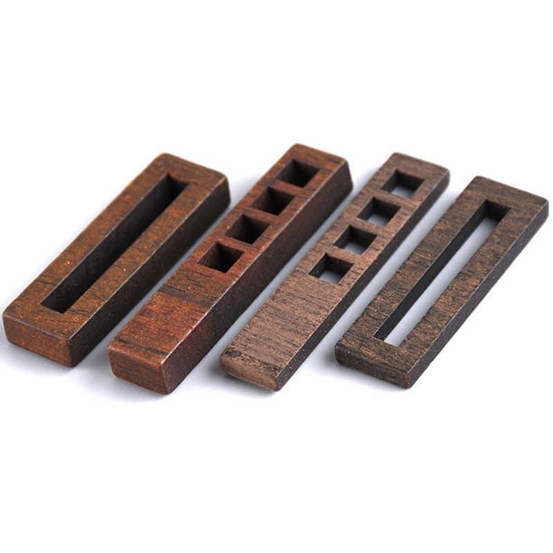 NEW! Set 10 open bezel in legno di sandalo