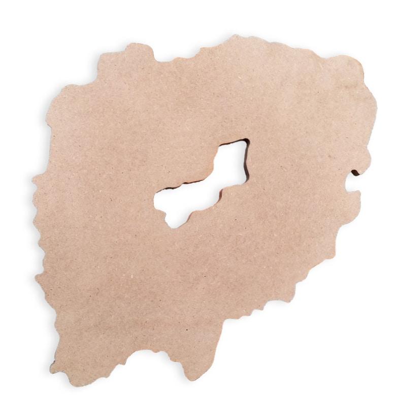 """Base per tavoli/ Pannello/ Board """"Geode O Grande"""""""