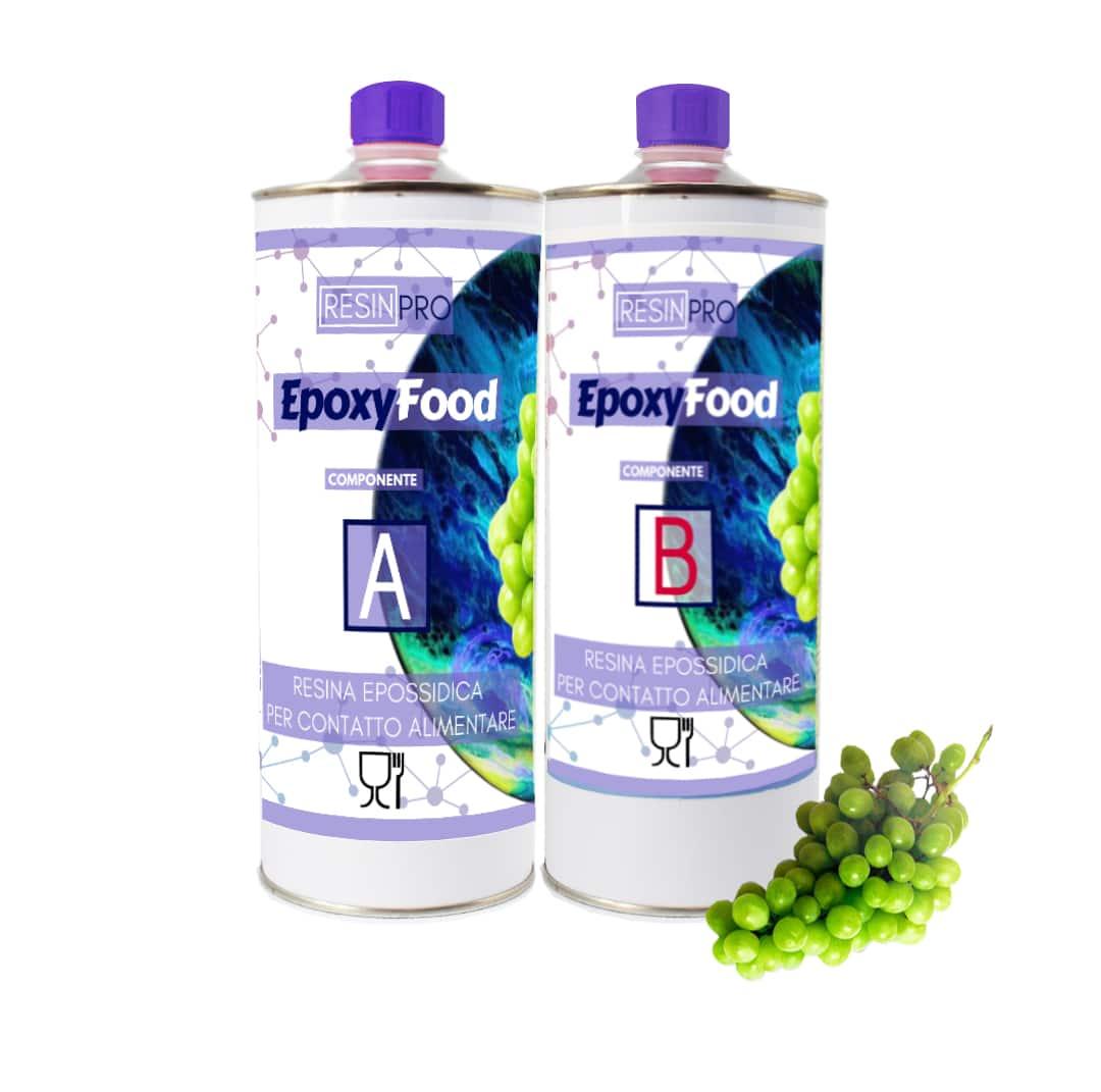 Finitura Legno Per Alimenti resina trasparente per contatto alimentare food safe kg 1.55