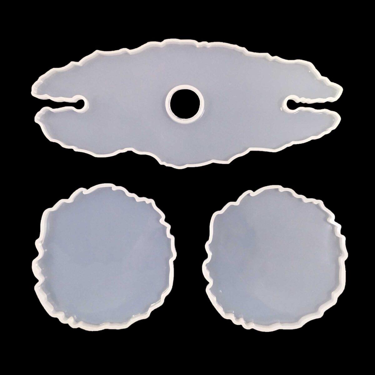 Set Stampi in silicone Portabottiglie + 2 Sottobicchieri
