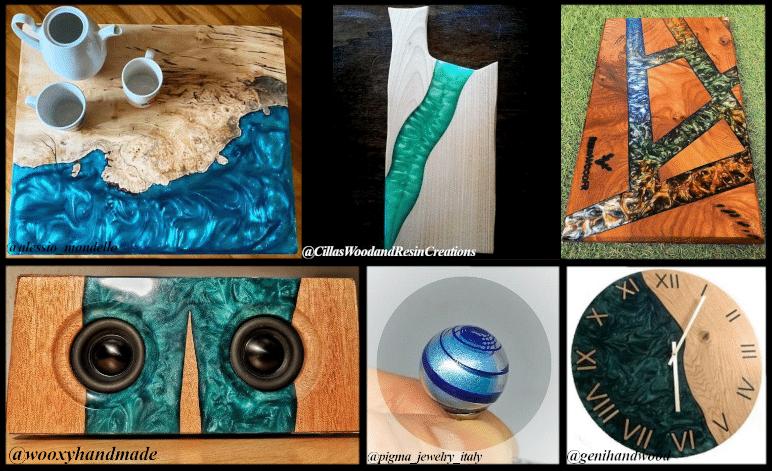 """Resina e pigmenti metallici - Come ottenere l'effetto """"onda"""""""