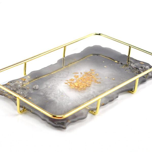 Supporto in metallo rettangolare per vassoio