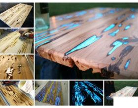 Vorrei provare con resina e pigmento a riempire fessure di tavolo di legno..
