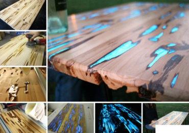 Resine trasparenti per creazioni gioielli stampi for Tavolo legno resina